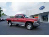 1999 Metallic Red Dodge Ram 1500 SLT Extended Cab 4x4 #49904973