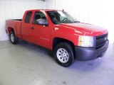 2008 Victory Red Chevrolet Silverado 1500 Work Truck Extended Cab #49950546