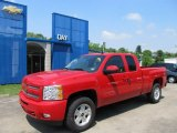 2011 Victory Red Chevrolet Silverado 1500 LT Extended Cab 4x4 #49950301
