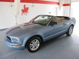 2007 Windveil Blue Metallic Ford Mustang V6 Premium Convertible #49950195