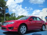 2011 Red Candy Metallic Ford Fusion SE #49950324