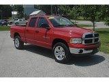 2004 Flame Red Dodge Ram 1500 SLT Quad Cab 4x4 #49950613