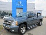 2007 Blue Granite Metallic Chevrolet Silverado 1500 LT Extended Cab 4x4 #49950642