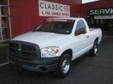 2008 Bright White Dodge Ram 1500 ST Regular Cab #49992293