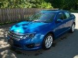 2011 Blue Flame Metallic Ford Fusion SE #49992437
