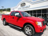 2010 Vermillion Red Ford F150 STX SuperCab 4x4 #49992150