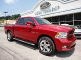 2010 Inferno Red Crystal Pearl Dodge Ram 1500 Sport Crew Cab 4x4 #49992151