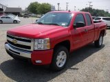 2011 Victory Red Chevrolet Silverado 1500 LT Extended Cab 4x4 #49992442