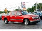 2006 Victory Red Chevrolet Silverado 1500 LS Crew Cab #49992309