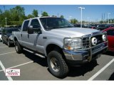 2004 Silver Metallic Ford F250 Super Duty XLT Crew Cab 4x4 #49991884