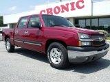2005 Sport Red Metallic Chevrolet Silverado 1500 LS Crew Cab #49992168