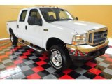 2004 Oxford White Ford F250 Super Duty Lariat Crew Cab 4x4 #49992329
