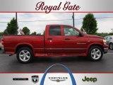 2007 Inferno Red Crystal Pearl Dodge Ram 1500 Big Horn Edition Quad Cab 4x4 #49991947