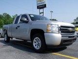 2011 Sheer Silver Metallic Chevrolet Silverado 1500 LS Extended Cab #49992225