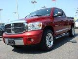 2008 Inferno Red Crystal Pearl Dodge Ram 1500 Laramie Quad Cab 4x4 #49991988