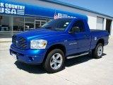 2007 Electric Blue Pearl Dodge Ram 1500 Sport Regular Cab 4x4 #49992382