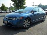 2007 Atomic Blue Metallic Honda Civic LX Sedan #49992384