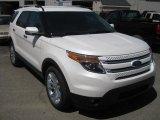 2011 White Platinum Tri-Coat Ford Explorer Limited 4WD #49992249