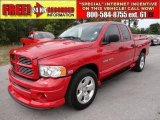 2005 Flame Red Dodge Ram 1500 Sport Quad Cab #50037618