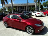 2008 Matador Red Mica Lexus IS 250 #50037054
