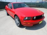 2005 Torch Red Ford Mustang V6 Deluxe Coupe #50037334