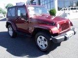 2010 Red Rock Crystal Pearl Jeep Wrangler Sahara 4x4 #50037588