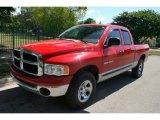 2004 Flame Red Dodge Ram 1500 SLT Quad Cab 4x4 #50037313