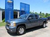 2011 Blue Granite Metallic Chevrolet Silverado 1500 LT Extended Cab 4x4 #50085586