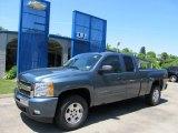 2011 Blue Granite Metallic Chevrolet Silverado 1500 LT Extended Cab 4x4 #50085588