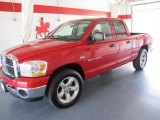 2006 Flame Red Dodge Ram 1500 SLT Quad Cab #50085401