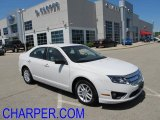 2010 White Suede Ford Fusion S #50085429