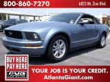 2005 Windveil Blue Metallic Ford Mustang V6 Deluxe Convertible #50086306