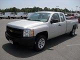2011 Sheer Silver Metallic Chevrolet Silverado 1500 Extended Cab #50151159