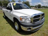 Bright White Dodge Ram 1500 in 2007