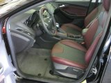 2012 Ford Focus SE Sport 5-Door Tuscany Red Leather Interior