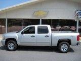 2011 Sheer Silver Metallic Chevrolet Silverado 1500 LS Crew Cab 4x4 #50191557