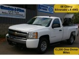 2008 Summit White Chevrolet Silverado 1500 LS Regular Cab 4x4 #50191332