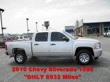 2010 Sheer Silver Metallic Chevrolet Silverado 1500 LS Crew Cab 4x4 #50191697