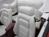 1986 Ford Mustang GT Convertible White Interior