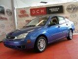 2005 French Blue Metallic Ford Focus ZX4 SE Sedan #50231415