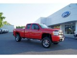 2009 Victory Red Chevrolet Silverado 1500 LT Extended Cab 4x4 #50230986