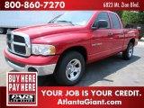 2004 Flame Red Dodge Ram 1500 SLT Quad Cab #50231479