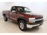 2000 Dark Carmine Red Metallic Chevrolet Silverado 1500 LS Regular Cab 4x4 #50231329