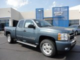 2011 Blue Granite Metallic Chevrolet Silverado 1500 LT Extended Cab 4x4 #50231017