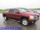 2009 Deep Ruby Red Metallic Chevrolet Silverado 1500 LTZ Crew Cab 4x4 #50230815