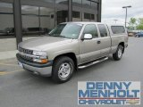2002 Light Pewter Metallic Chevrolet Silverado 1500 LS Extended Cab 4x4 #50268520