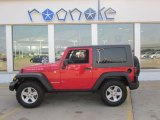2010 Flame Red Jeep Wrangler Rubicon 4x4 #50268177