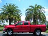 2003 Flame Red Dodge Ram 1500 SLT Quad Cab #50268004