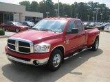 2007 Flame Red Dodge Ram 3500 Lone Star Quad Cab Dually #50268400