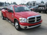 Flame Red Dodge Ram 3500 in 2007